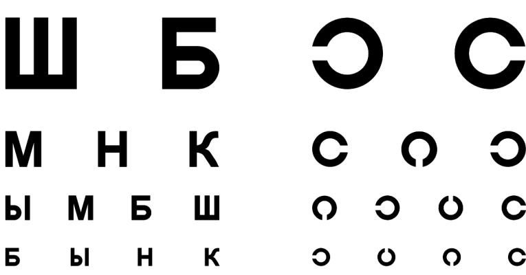 проверка зрения онлайн на компьютере