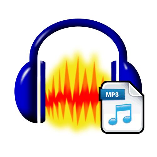 Логотип Audacity с mp3