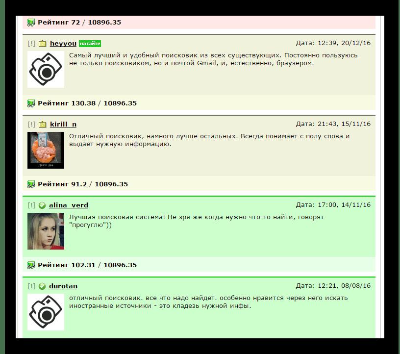 Отзывы пользователей в ВебПроверке