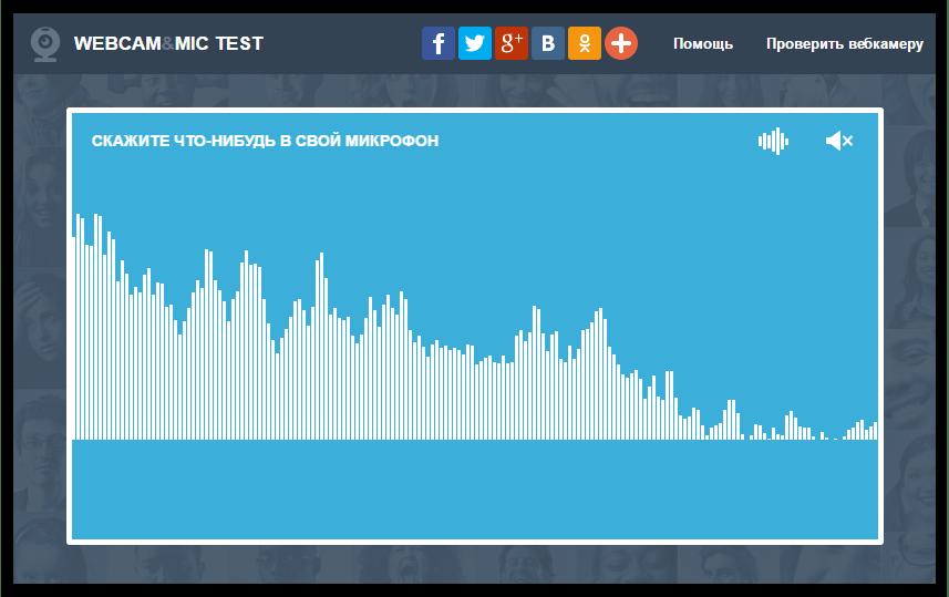 Результат работы микрофона