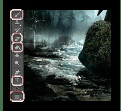 основные инструменты фотошоп