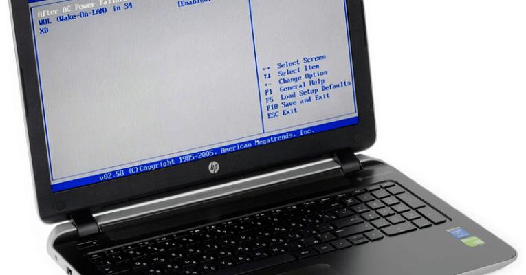 как войти в биос на ноутбуке HP