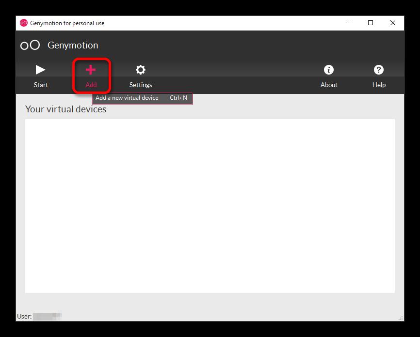 Добавление виртуального девайса в Genymotion