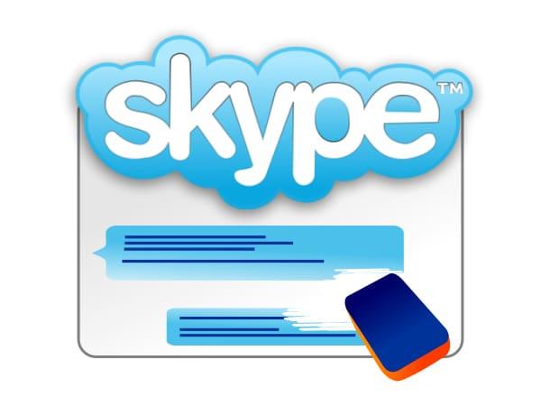 Как удалить переписку в Skype