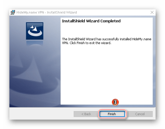 Окончание установки VPN HideMy