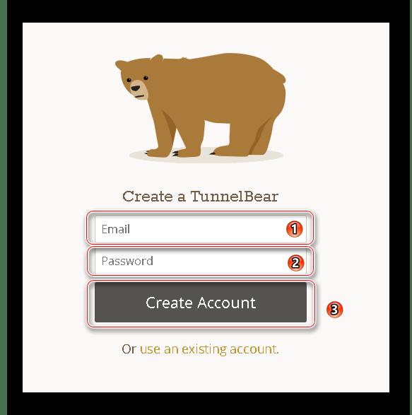 Создание аккаунта Bear VPN для Google Chrome.