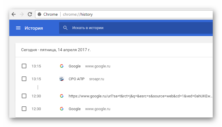 Google Chrome память