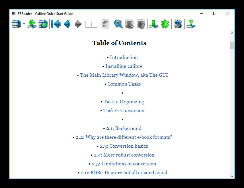 Просмотр файла в формате epub в FBReader