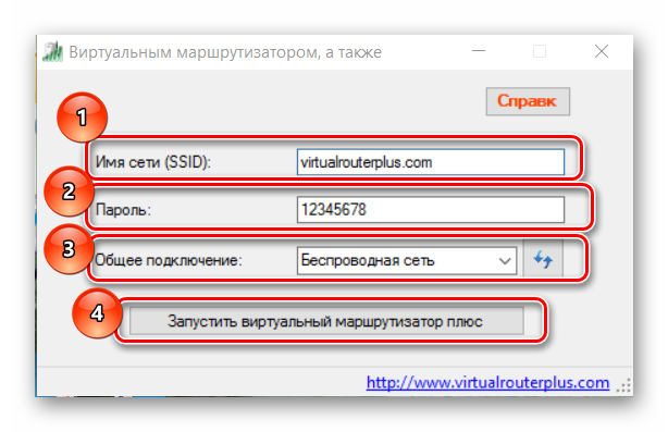 настройка virtual router plus