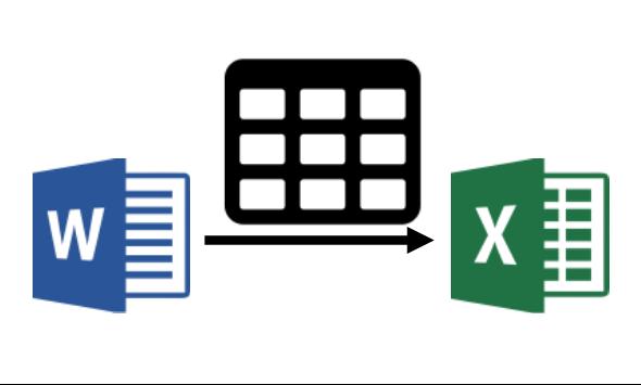 Вставка таблицы из Word в Excel