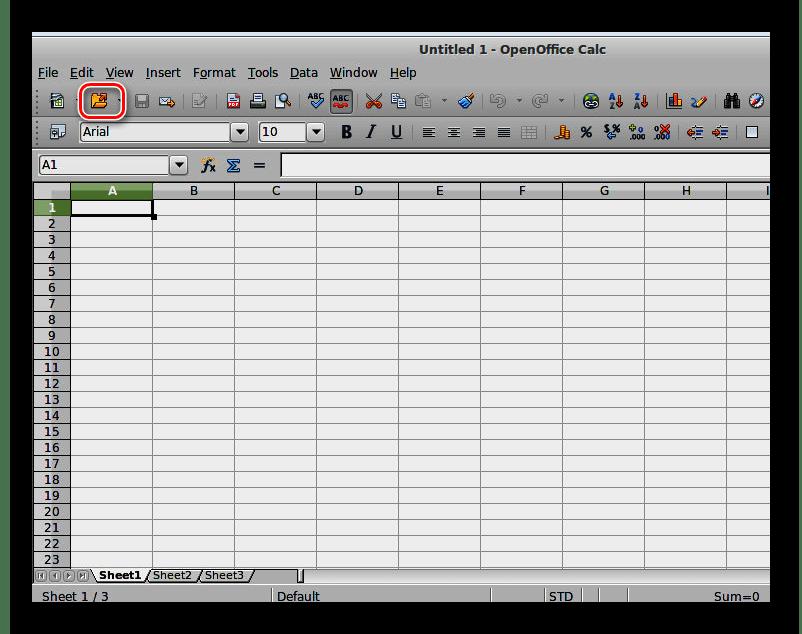 Открытие файла в OpenOffice