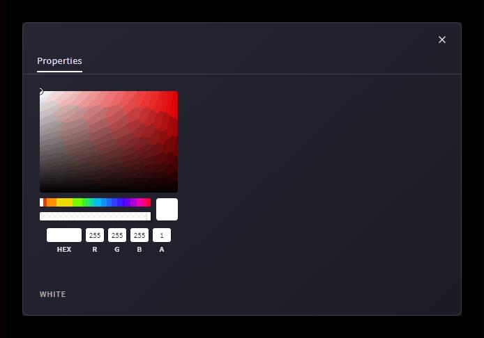 Настройки заднего фона на сайте Clipchamp