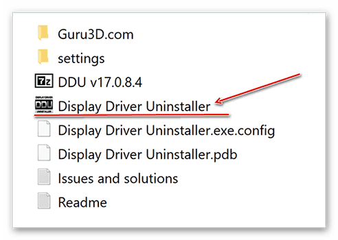 Запуск Display Driver Uninstaller