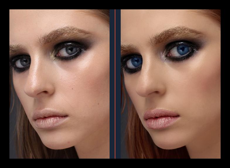 До и после обработки в Movavi Photo Editor